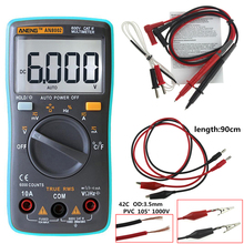 ANENG AN8002 Digital Multimeter 6000 counts Backlight AC/DC Ammeter Voltmeter Ohm Portable Meter With 90 cm cord lead P50