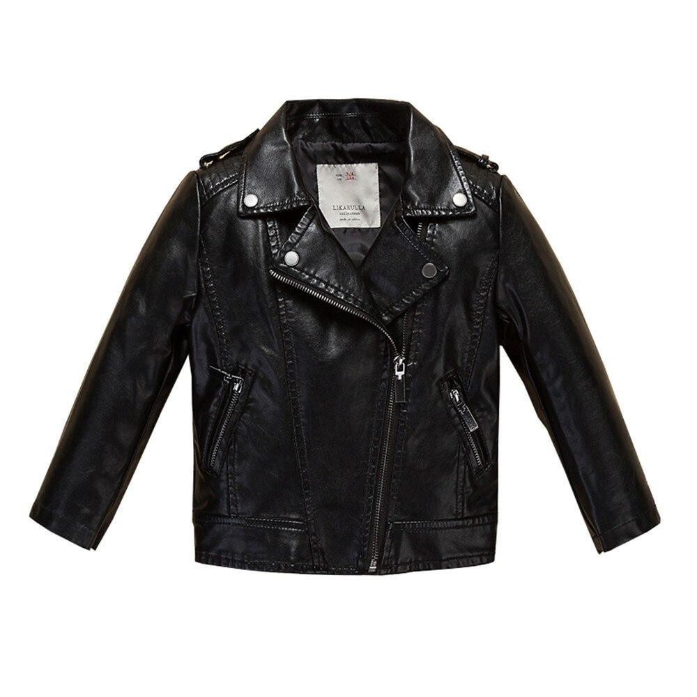 ФОТО Jackets for Boys and Girls Infant Leather Jacket Coat 2017 Brand Spring Children Jacket Sobretudo Infantil Casacos Kids Clothes