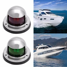 1Pair Stainless Steel Marine Boat Yacht Light 12V LED Bow Navigation Lights new 39 4ft 12m marine boat yacht 1 nautical mile led bi color navigation lights