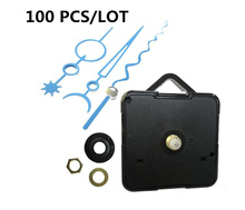 100PCS wholesale Wavy Hands Silent Clock Movement Wall DIY Mechanism Parts Replacement Repair 18mm shaft