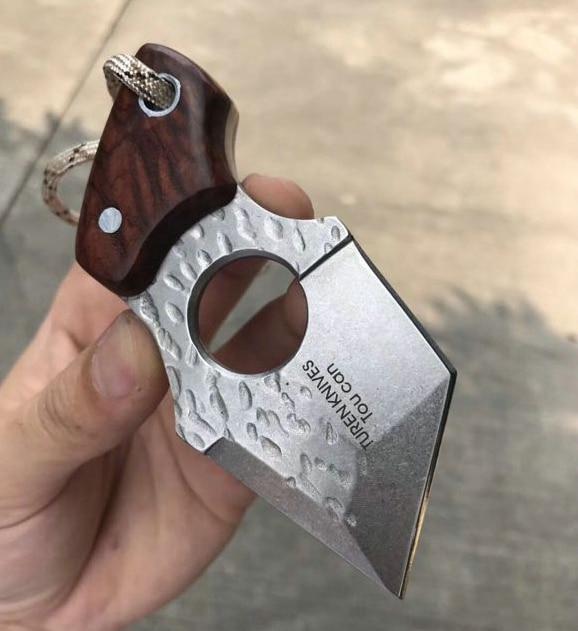 Купить с кэшбэком Vellance Portable Fixed Blade Knife AUS-8A Blade Ebony Handle Camping Survival Knives Utility Outdoor EDC Pocket Knife Tools