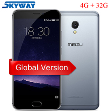 Original Meizu MX6 Global Version M685H 4GB RAM 32GB ROM Dual SIM Cell Phone MTK Helio X20 Deca Core 5.5″ 1920x1080p mTouch