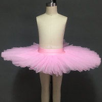 5 Layer Stiff Tulle Half Ballet Tutu Child Professional Ballet Tutus Pancake Practice Rehearsal Platter Ballet
