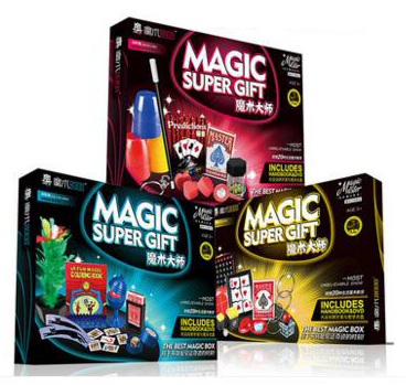 Classique enfants tours de magie set variété accessoires pour gros plan scène spectacle haute qualité enfants cadeau d'anniversaire garçons jouets