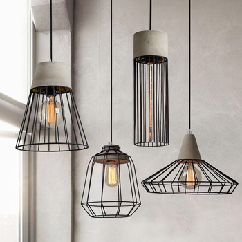 E27 Hanging Lights Kitchen Luminaire iron cover pendant lamp Industrial lighting Retro Restaurant Bar Boutiques Loft light