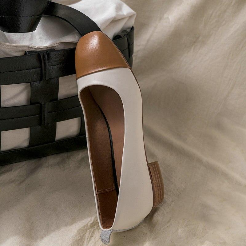 Livraison jaune Cuir Femme Gris Salu automne Classics sur Pompes Taille Véritable Gratuite Printemps Chaussures Bout Rond Nouveau Slip 3540 2019 Casual En vY6f7gyb