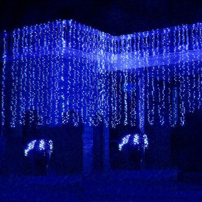 aliexpresscom buy waterfall outdoor 6m x 3m 600 led fairy string curtain light christmas wedding backdrop party garden decoration 220v light from - Waterfall Christmas Lights