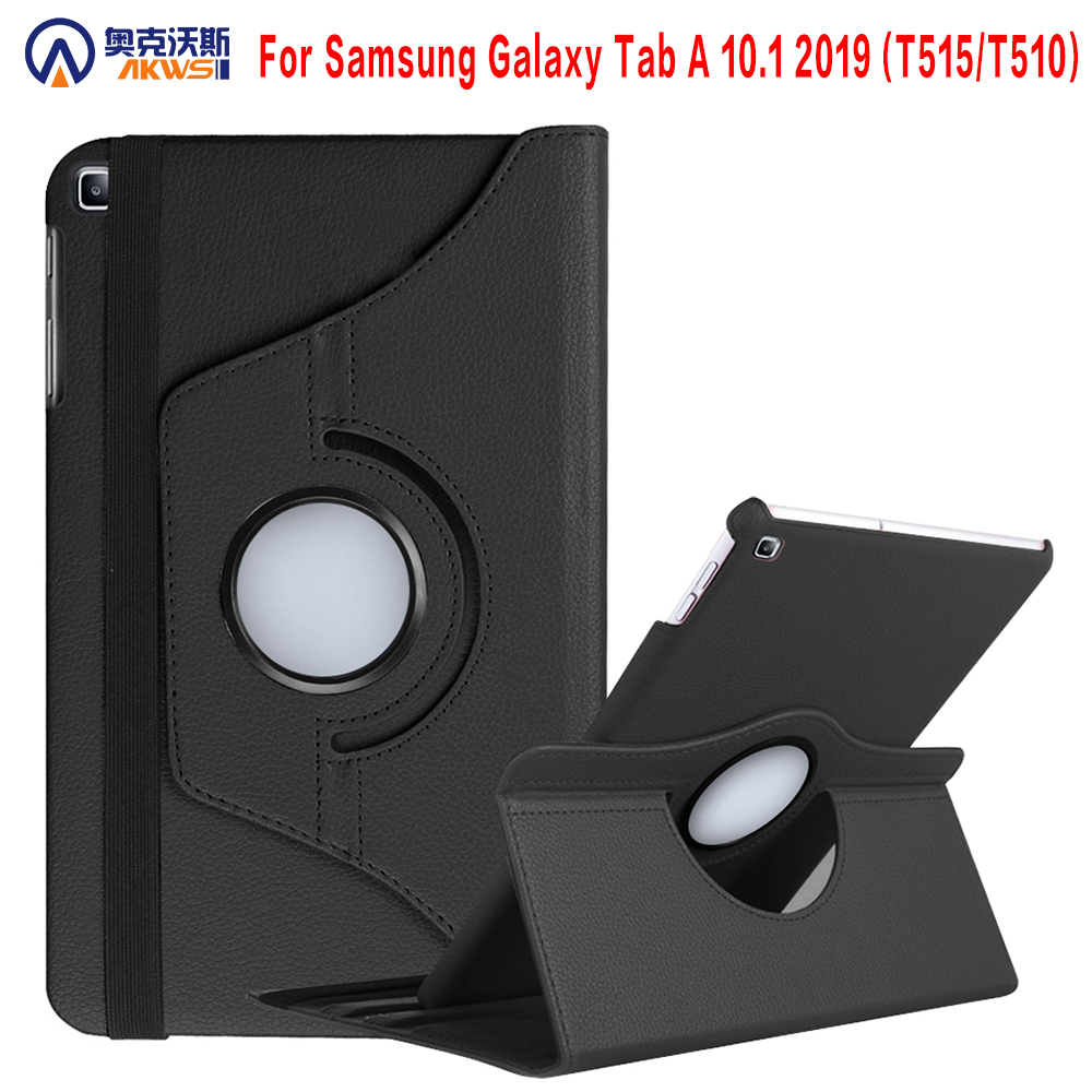 Case For 2019 Samsung Galaxy Tab A 10.1 2019 SM-T510 SM-T515 T510 T515 360 Degree Rotating Stand Cover For Galaxy Tab A 10.1