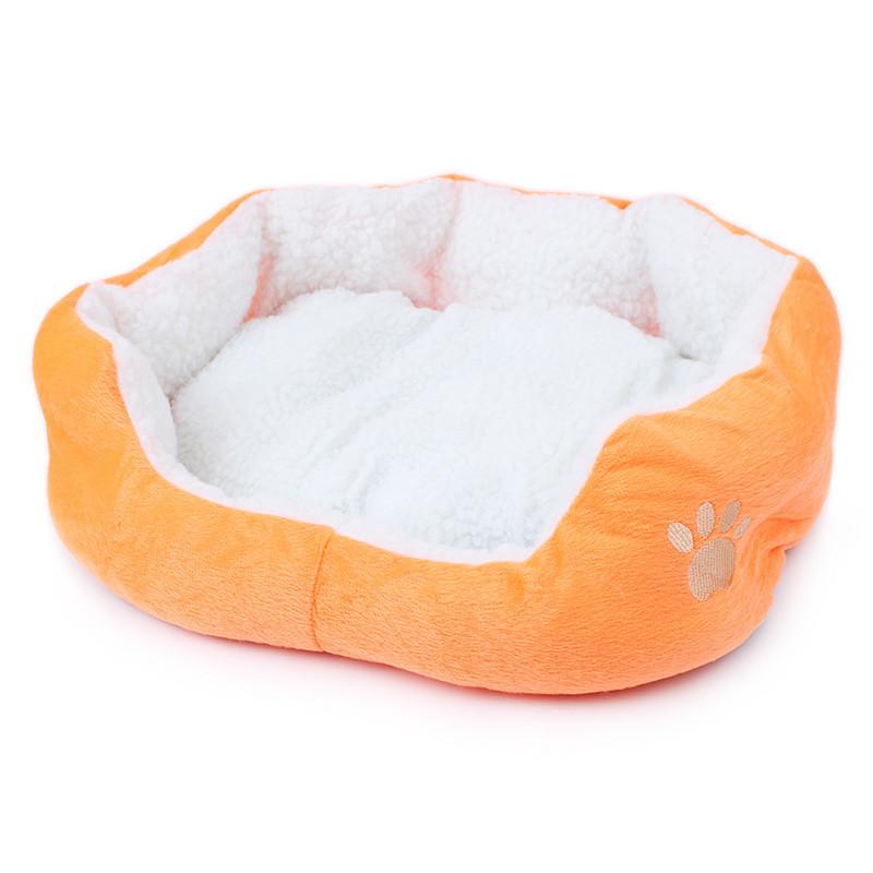 Cat Bed: Super Cute Soft Fluffy Cotton Bed Orange