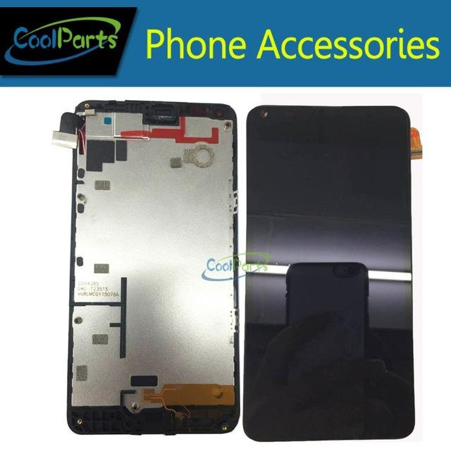 1 unid/lotfor microsoft lumia 640 n640 lcd pantalla y pantalla táctil digitalizador asamblea con marco libre del envío
