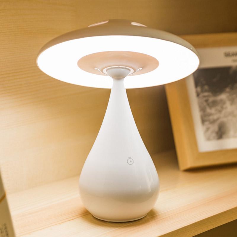 Lampe de table champignon créatif enfants purificateur d'air champignon capteur tactile protection des yeux lumière LED lampe de table de lecture