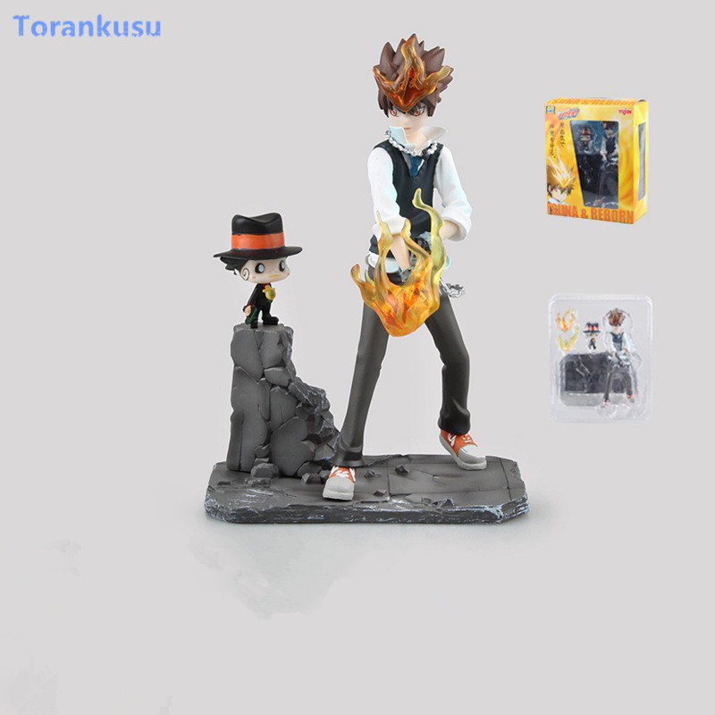 HITMAN REBORN! Action Figure Katekyo Hitman Reborn Sawada Tsuna PVC Figure Toy 190mm Anime HITMAN REBORN Model Doll Kids Gift image