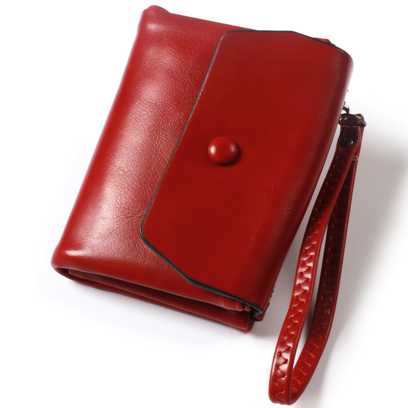 Pearl Angeli Röd Plånbok Kvinnlig Wristlet Kreditkort Telefon - Plånböcker - Foto 5