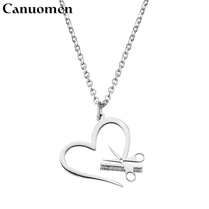Charming Women Jewelry Silver Plated Scissors Pendant Chain Necklace