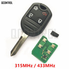 QCONTROL Car Remote Key Fit for Ford EDGE ESCAPE EXPEDITION EXPLORER FLEX FUSION MUSTAN TAURUS 4 Buttons For Mazda Tribute