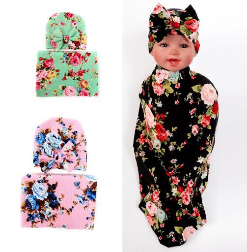 Новинка 2016 дети ѕеленальное Ндеяло и бантом повязка на голову бутон цветка одеяло для девочек реквизит пелЄнки из муслина с запахом