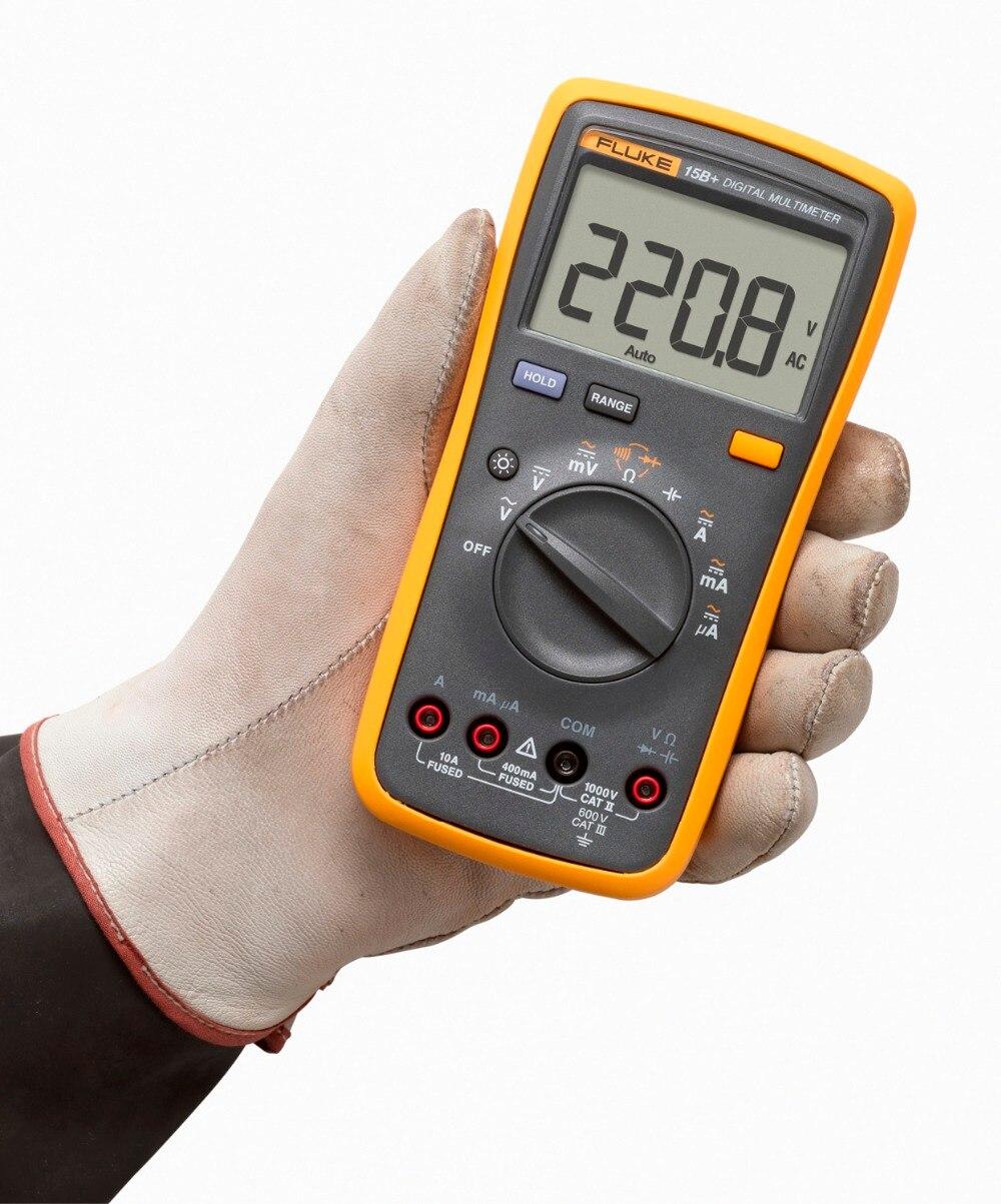 Original Fluke 15B+/17B+/18B+/12E+ Plus Auto Digital Range Multimeter DMM AC/DC/Diode/R/C Voltage Current Tester-in Multimeters from Tools    2