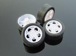 4 sztuk K537B o średnicy 26 MM gumowa zabawka opony samochodowe koła z tworzywa sztucznego DIY części sprzedaży ze stratą USA białoruś ukraina