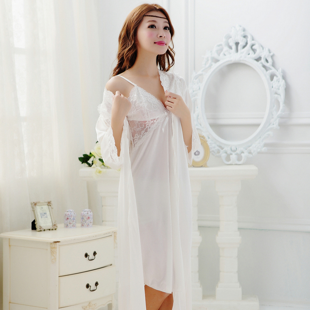 2016 пижамы женские сексуальные кружева пижамы женские летние халат женский халат женский халат ночная рубашка twinset