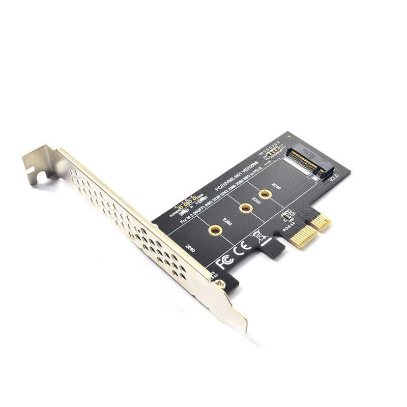 Dodać na karty PCIE do M2 Adapter pci express 3.0x1 do nvme SSD M2 PCIE hodowca wspornik adaptera 2230 2242 2260 2280 M.2 SSD