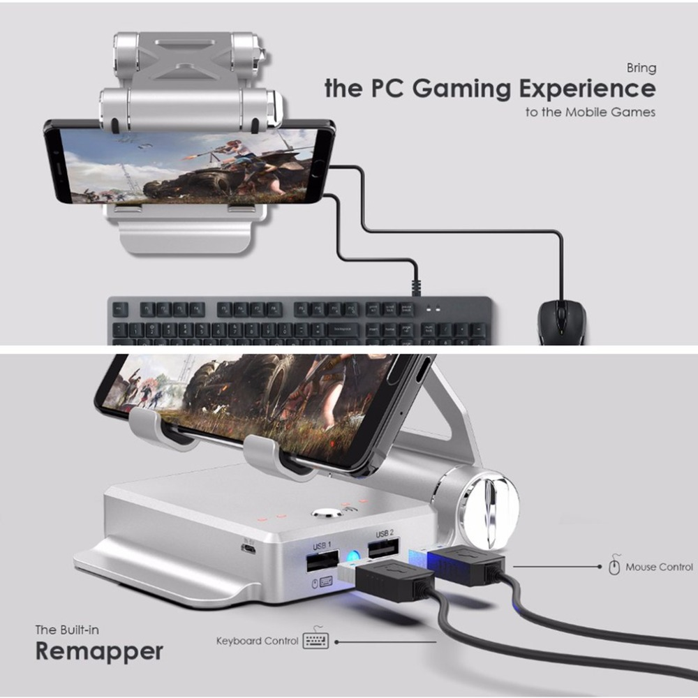 GameSir X1 BattleDock Converter Keyboard and Mouse Adapter Bluetooth 4.0 For Smartphone Mobile Games Gaming Built-in Remapper