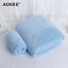 2Pcs/set Microfiber Bath Towel and Face Set Solid Thick Bathroom Towels Terry for Adults Luxury  Brand AOKEE Home Textile