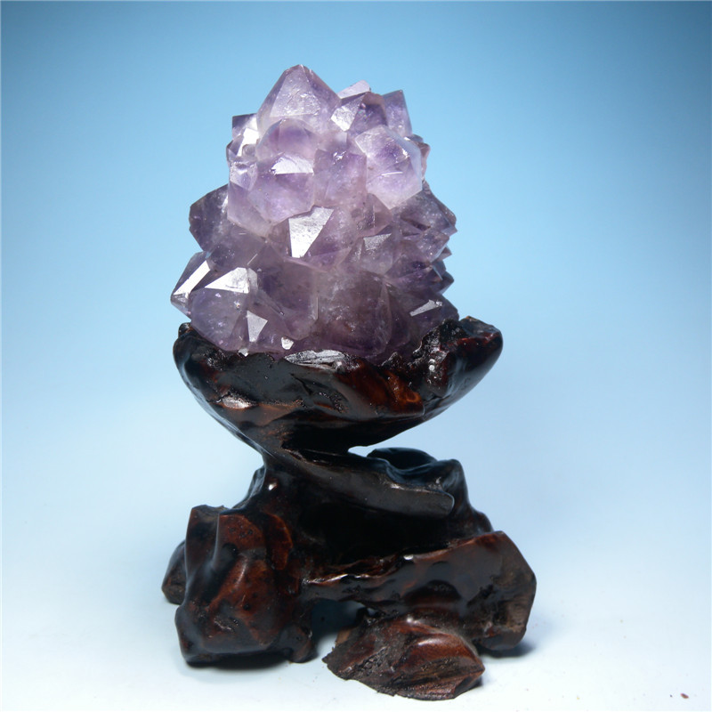 Brazil natural amethyst ornaments degaussing private collection tool transport mineral crystal stone degaussing