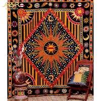 ROMORUS Indian Sun Tapestry Wall Hanging Mandala Tapestry 145*200CM Bohemian Bedroom Decorative Tapestries Bedsheet Yoga Mats