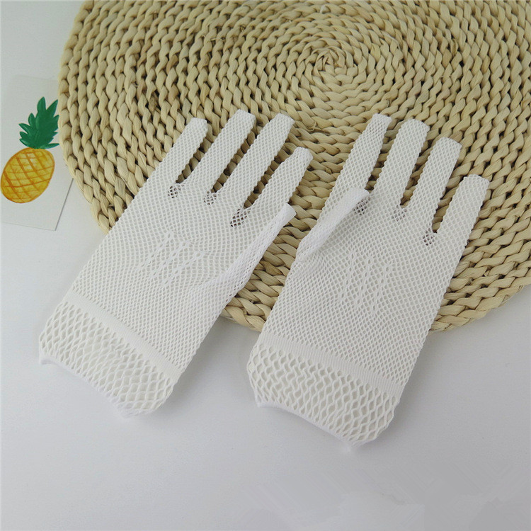 Beautiful White Ivory Black Wedding Gloves