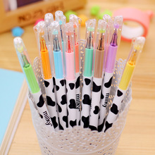 Cute Kawaii Colored Plastic Gel Pen Cartoon Cows Marker Pens Caneta For Kids Gift Korean Stationery Free Shipping 3140