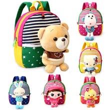 Baby Back Pack Toddler Kids Backpacks Kindergarten School Bag Cute Animal Plush Cartoon Schoolbag Girls Boys Hello Kitty Toys