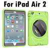For Apple IPad Air 2 Hand Belt Holder Full Body Armor Shockproof Case Cover W Bulit