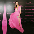 Sexy Openning Bust Thigh Slit Side Pink Chiffon Formal Party Gown Miranda Kerr Red Carpet Celebrity Dresses 2017 Vestidos CN-5