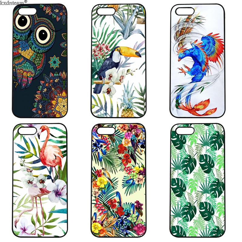 Mobile Phone Case Summer Fruit Flamingo Toucan Hard PC Cover Fitted for iphone 8 7 6 6S Plus X 5S 5C 5 SE 4 4S iPod Touch 4 5 6