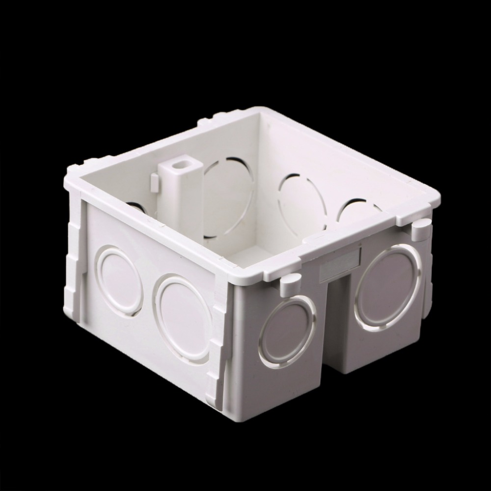 86-Type PVC Junction Box Wall Mount Cassette For Switch Socket Base Electrical Equipment Supplies uxcell 10pcs 86mm x 86mm x 40mm white pvc single gang wiring mount back box for wall socket