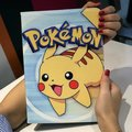 "Flip Case Smart Cover For iPad Mini 1 2 3 7.9"" Tablet Cute Pikachu Painted PU Leather Case Gift For kids Girl Mini2 mini3 pad"