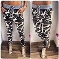 Primavera Pantalones de Camuflaje Mujeres Cordón Ocasional Pantalones Slim Fit Exterior Desgaste Diseño de la Marca de Ropa de Alta Calidad