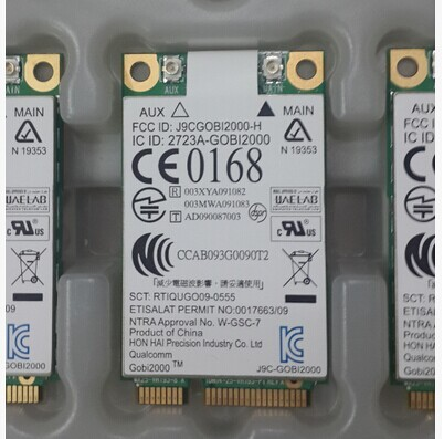 Qualcomm Gobi2000 HSPA 3G Mini PCIe WWAN Card  UN2420 SPS:531993-001 for HP 2540P 2740P 8440P 8440W 8540P 8540W 8740P 8740W