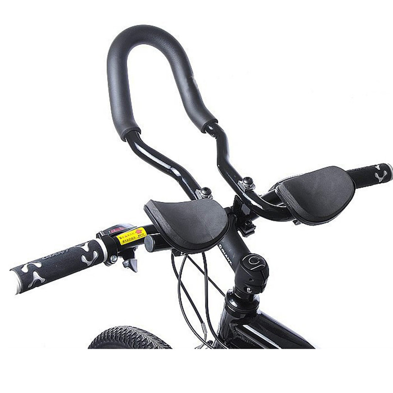 Lovely Bicycle Aluminum Rest Handlebar Bike Mtb Triathlon Aero Rest Bar Relaxation Handlebar U Type Black Bicycle Accessories #2a Attractive Designs;