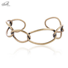 Badu Women Bangle Punk Style Vintage Gold Hollow Out Bracelets 2018 New Hot Fashion Cuff Bracelet Wholesale