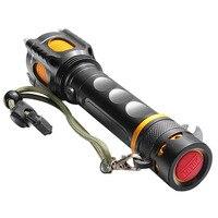 2000lm CREE XM-L T6 LED Saldırı Başkanı Fener Bisiklet Bisiklet Işık Led El Feneri Şarj Edilebilir 2000 Lumens Set