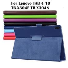 Caso para Lenovo TAB4 10 TB-X304, Litchi PU Funda de piel Cubierta Del Tirón para Lenovo TAB 4 10 TB-X304F TB-X304N Tablet Caso del soporte de la cubierta