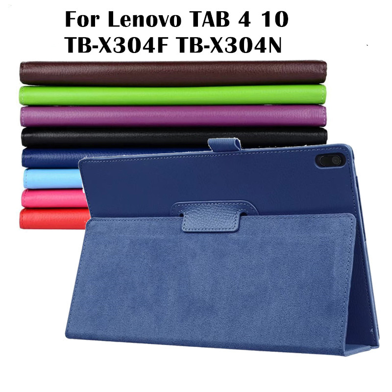 Case for Lenovo TAB4 10 TB-X304 Litchi PU Leather Case Flip Cover for TAB 4 10 TB-X304F TB-X304N TB-X304X Tablet stand cover