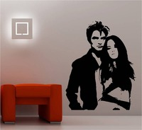 TWILIGHT BELLA EDWARD POP STAR POSTER WALL MURAL ART STICKER TRANSFER VINYL CUT DECAL STENCIL HOME