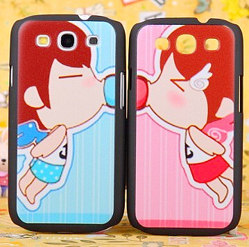 For samsung mobile phone case i9300 9300 phone case relievo lovers cartoon 9308 shell protective case