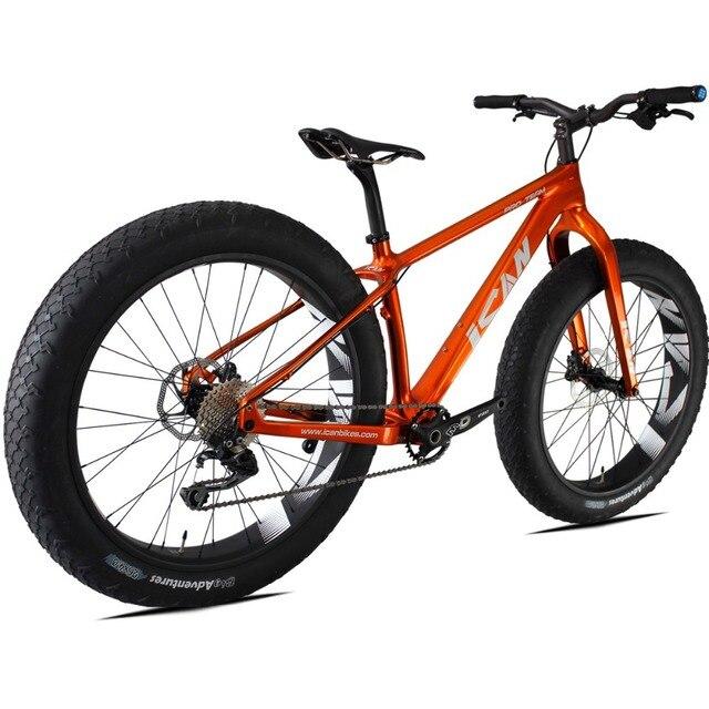 De carbono Bicicleta Grasa SN01, Fatbike Carbono, 26er Carbon Mountain Bike, Con Shiman velocidad 10 M610 Groupset Del, Fatbike Con llantas de 4.0 pulgadas