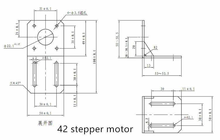 42 stepper motor bracket NEMA 17 ติดตั้ง L Bracket Mount Stepper Motor สำหรับเครื่อง CNC