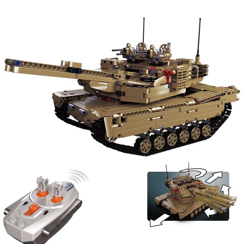 2018 техника современной военной Ww2 Радион удаленного Управление бак Moc Legoing Building Block Модель Кирпичи Rc игрушки коллекция подарки