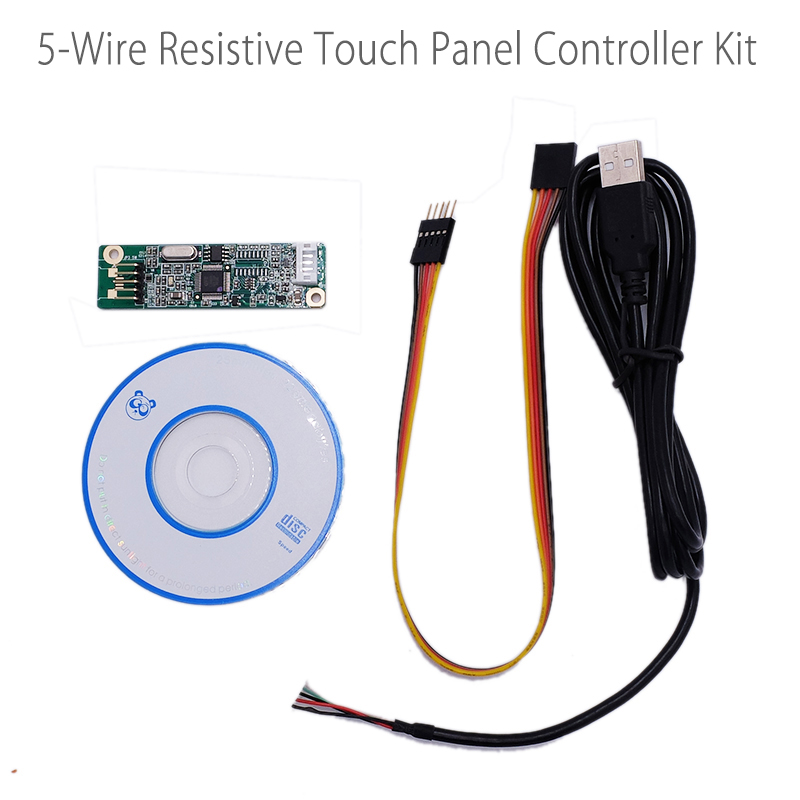 5 Wire 5-Wire Resistive Touch Screen Panel USB Port Driver Controller Board DIY For Raspberry PI3 LCD Display Panel 232COM 10 2inch 4 wire touch panel with usb controller card for 10 2 lcd screen