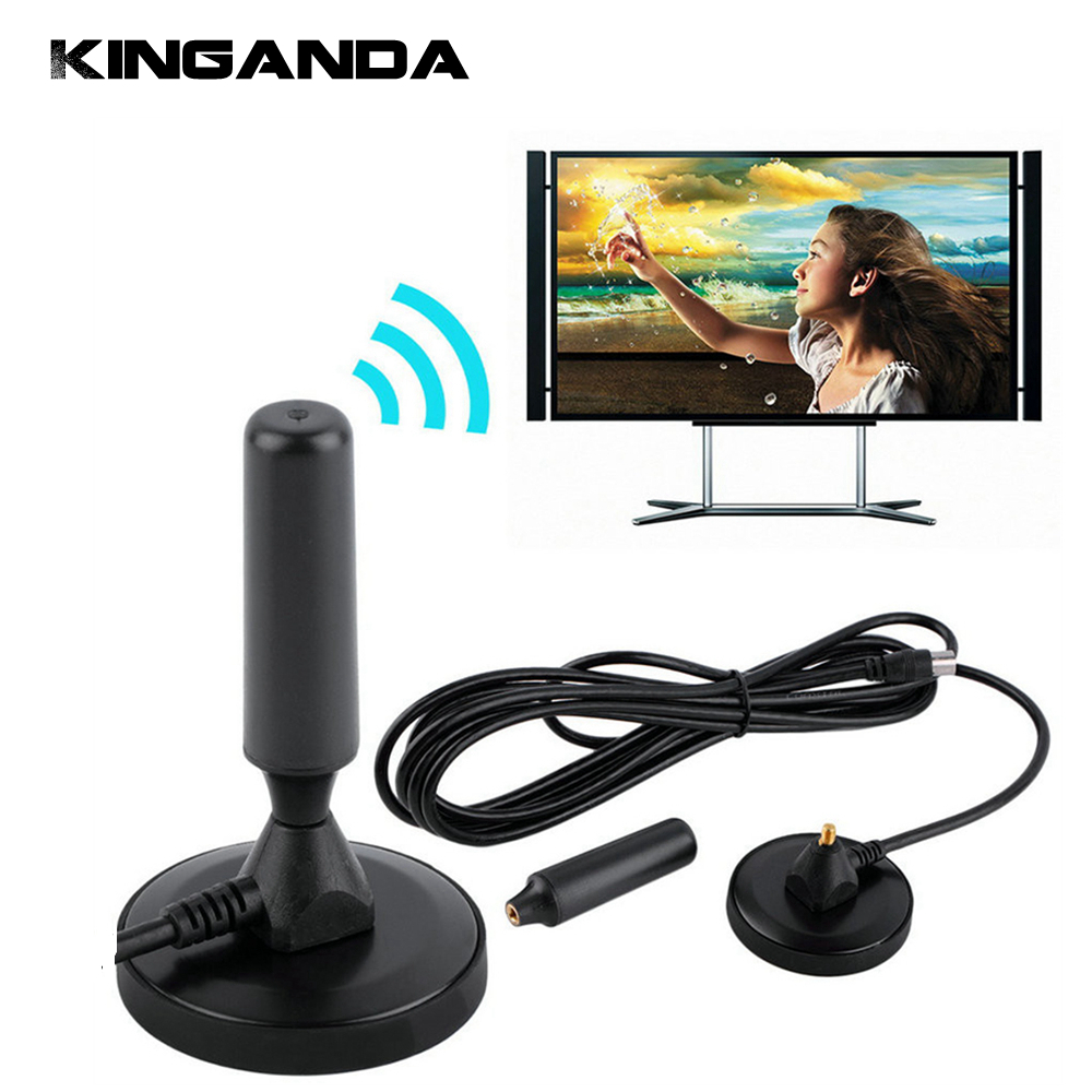 30 dBi Gewinn 75 ohm Digitalen Dvb-t-empfänger Antenne FM Dvb-t luft Antena DVB T Coaxial Starthilfekabel Magnetfuß TV HDTV